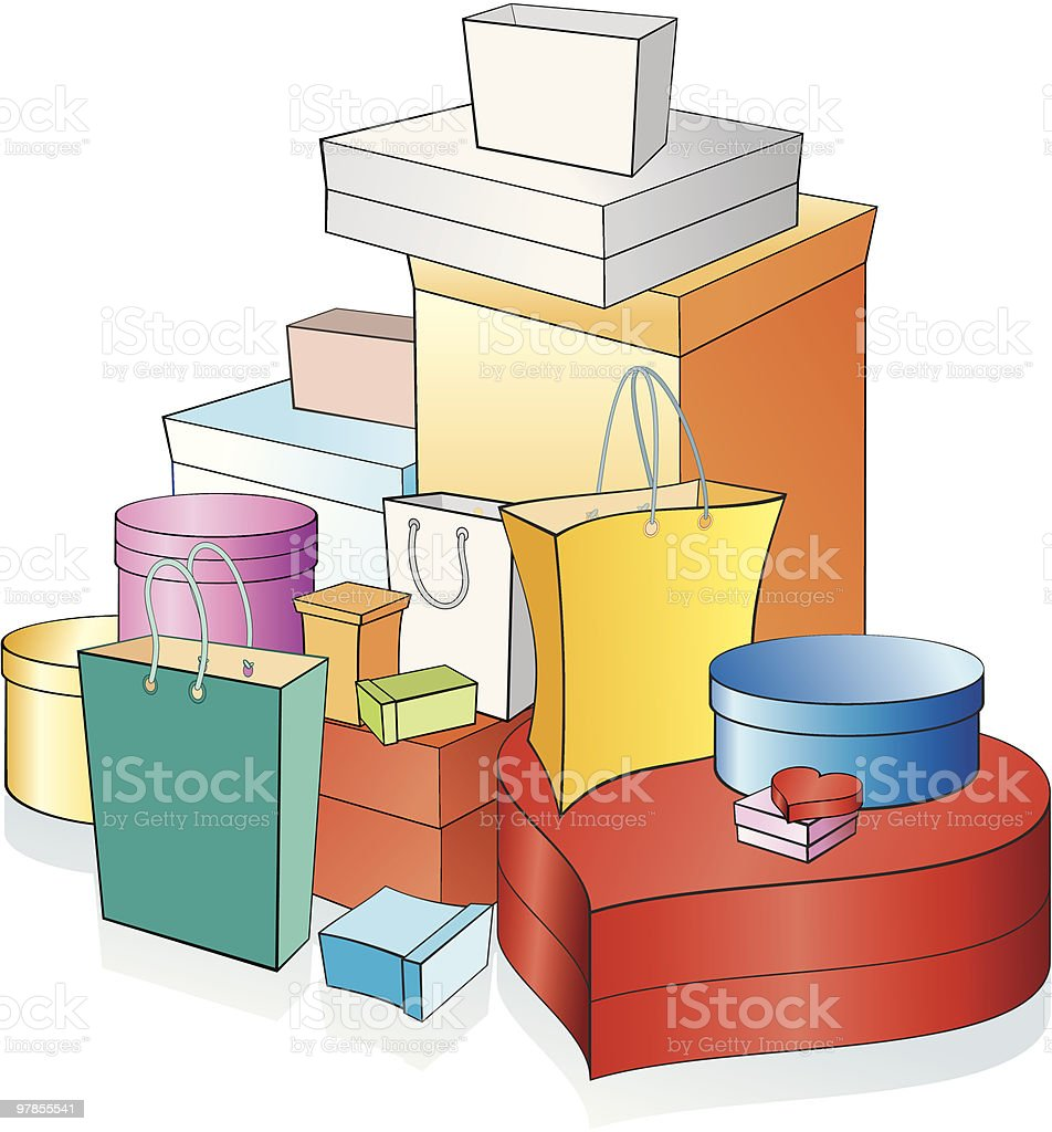 Stack of boxes royalty-free stack of boxes stock vector art & more images of birthday