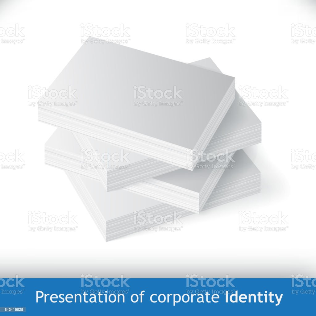 Stack of business cards or reams of paper mockup stock vector art stack of business cards or reams of paper mockup royalty free stack of business reheart Images