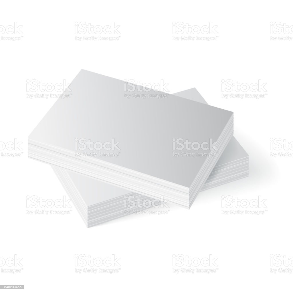 Stapel Von Visitenkarten Papier A4 Mockup Stock Vektor Art