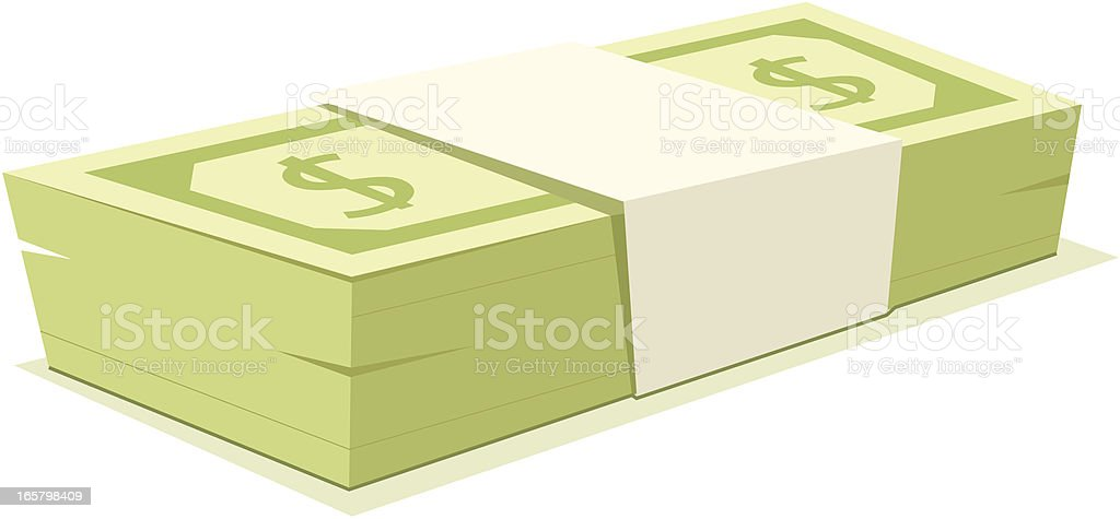 Stack of Cash royalty-free stock vector art