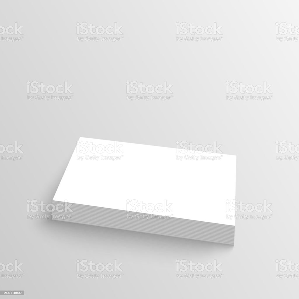 Stack of clean business cards. vector art illustration