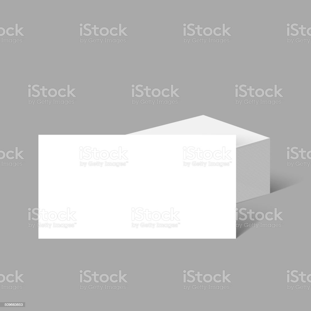 Stack of clean business cards stock vector art more images of stack of clean business cards royalty free stack of clean business cards stock vector reheart Images