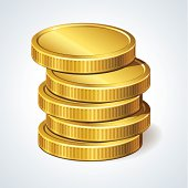 Stack of coins, money