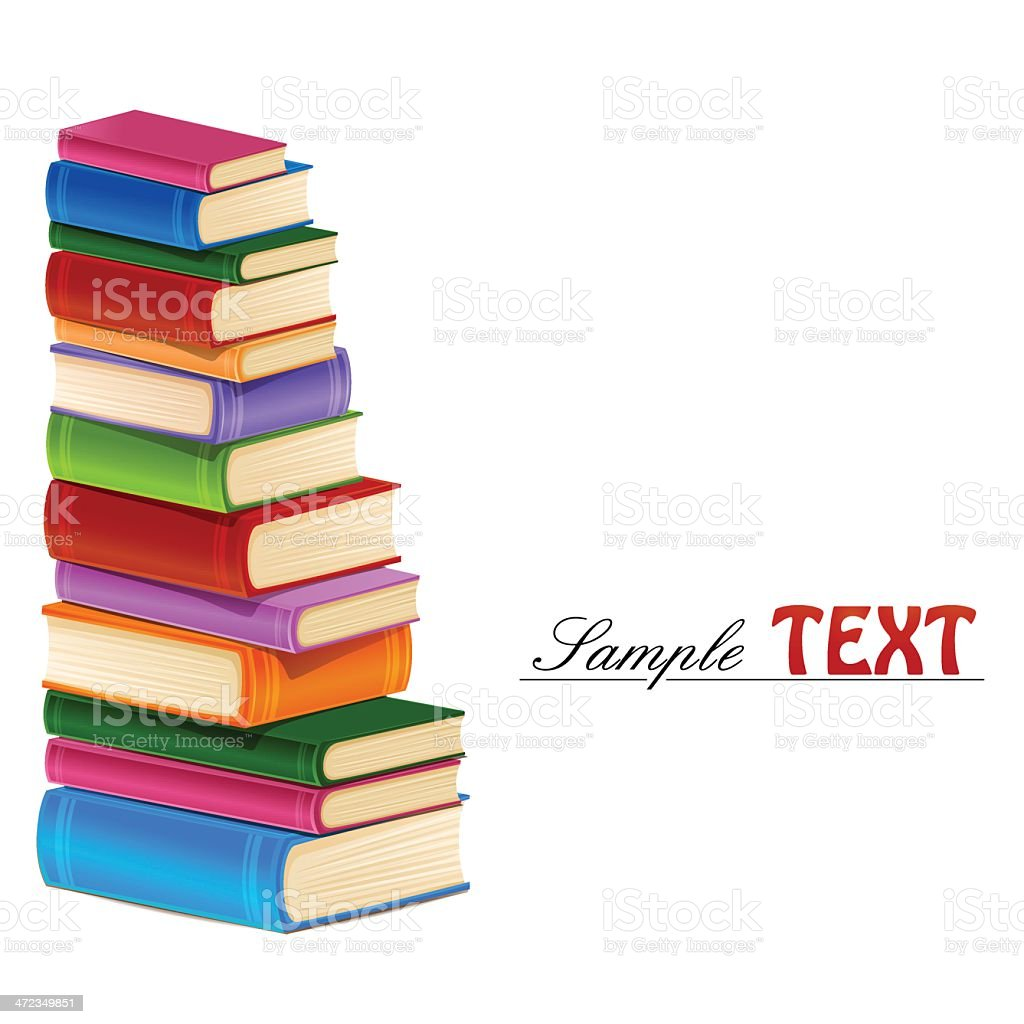 Stack of colorful books. royalty-free stock vector art