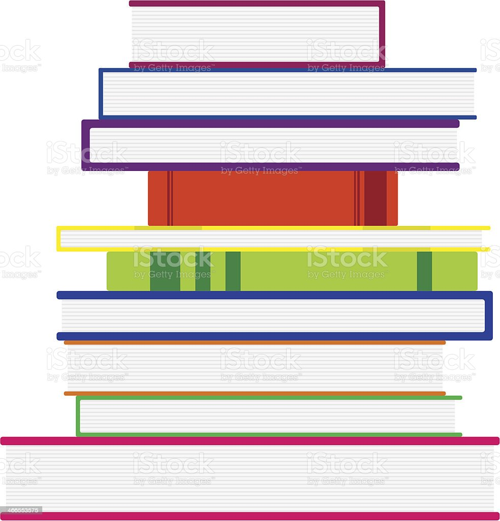 Stack Of Colorful Books. Vector Illustration royalty-free stock vector art