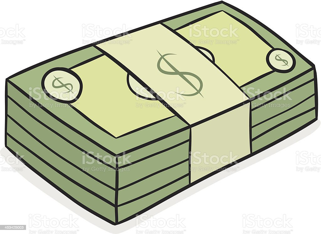 It is a picture of Genius Stacks Of Money Drawing