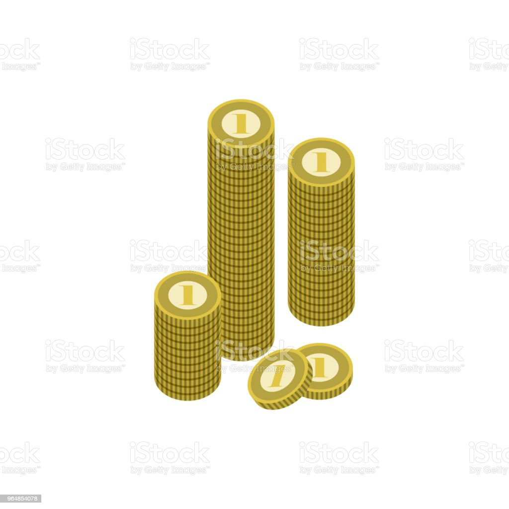 Stack of golden coins isolated icon royalty-free stack of golden coins isolated icon stock vector art & more images of abundance