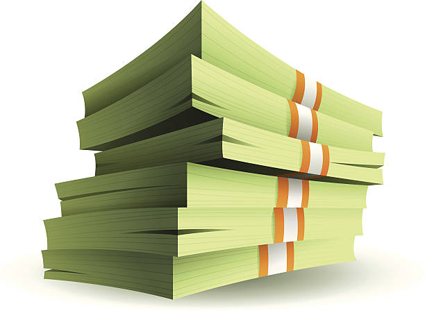Stack of Money vector art illustration