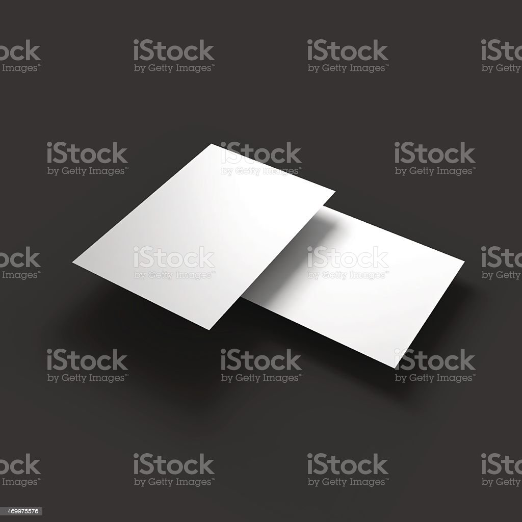 Stack Of Pages With Curved Corners Business Mockup Template Stock ...