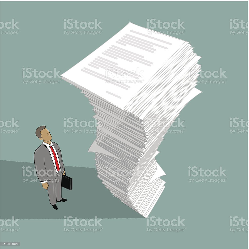 Stack of paper vector art illustration