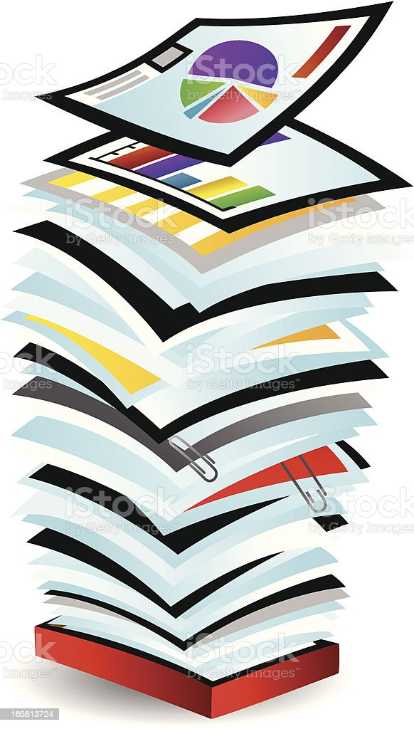 Stack of Papers royalty-free stack of papers stock vector art & more images of business