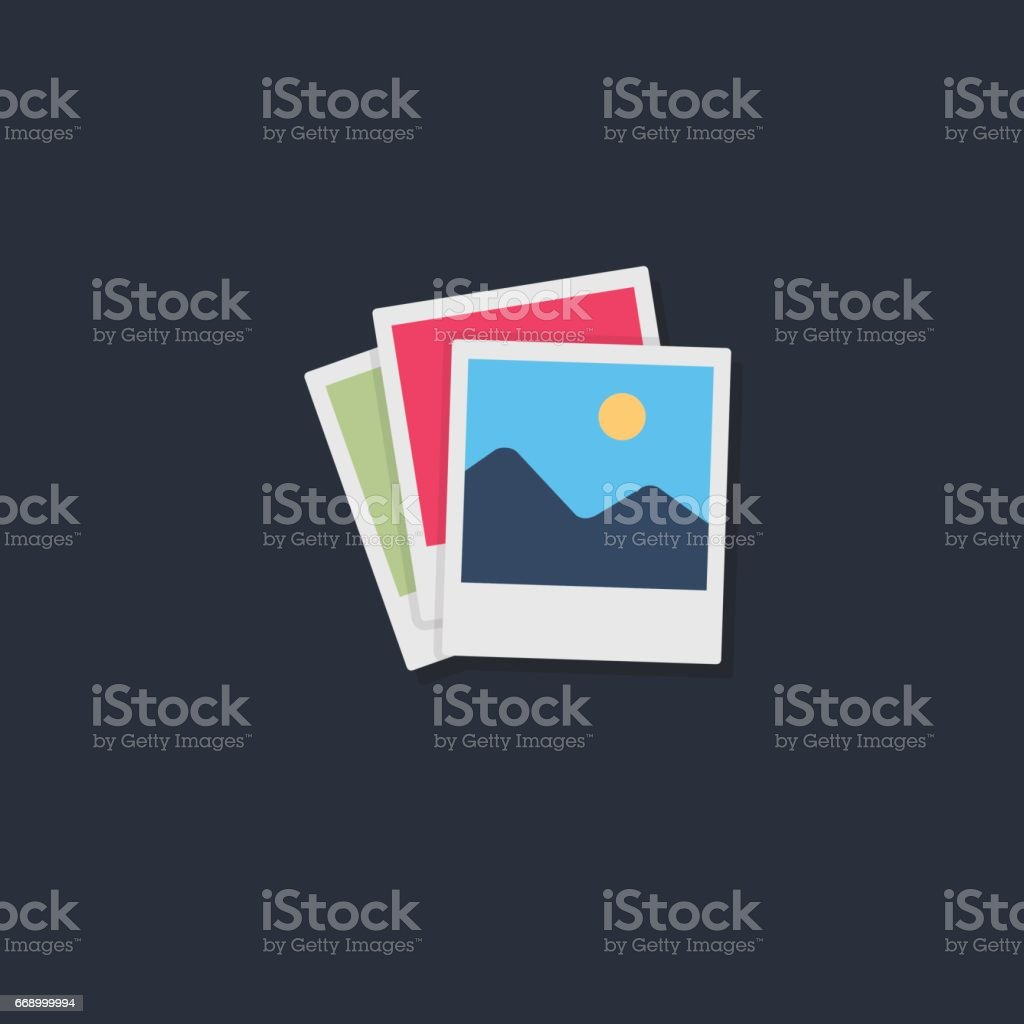 Stack of photo frame vector art illustration