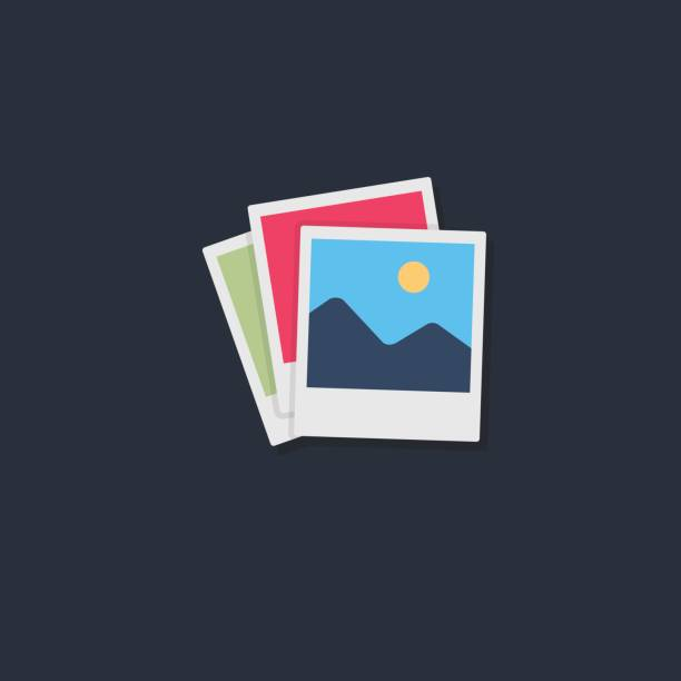 stack of photo frame - image stock illustrations