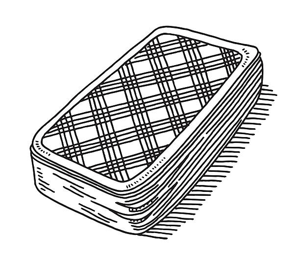 Stack Of Playing Cards Back Side Drawing Hand-drawn vector drawing of a Stack Of Playing Cards, Back Side. Black-and-White sketch on a transparent background (.eps-file). Included files are EPS (v10) and Hi-Res JPG. game stock illustrations