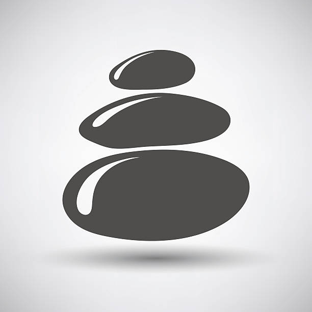stack of spa stones icon - pebbles stock illustrations, clip art, cartoons, & icons