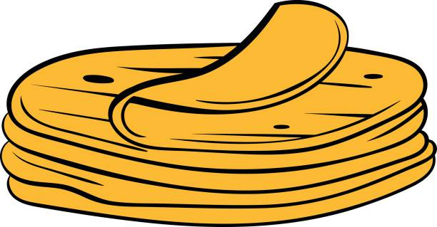 stapel von tortillas symbol cartoon - tortillas stock-grafiken, -clipart, -cartoons und -symbole