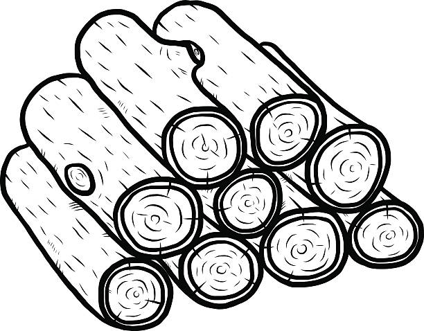 Royalty Free Firewood Clip Art, Vector Images ...