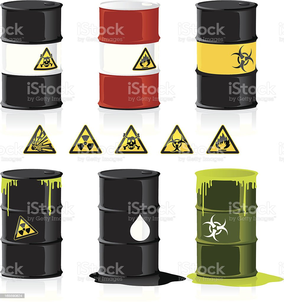 Stackable Barrels for example graphs royalty-free stock vector art