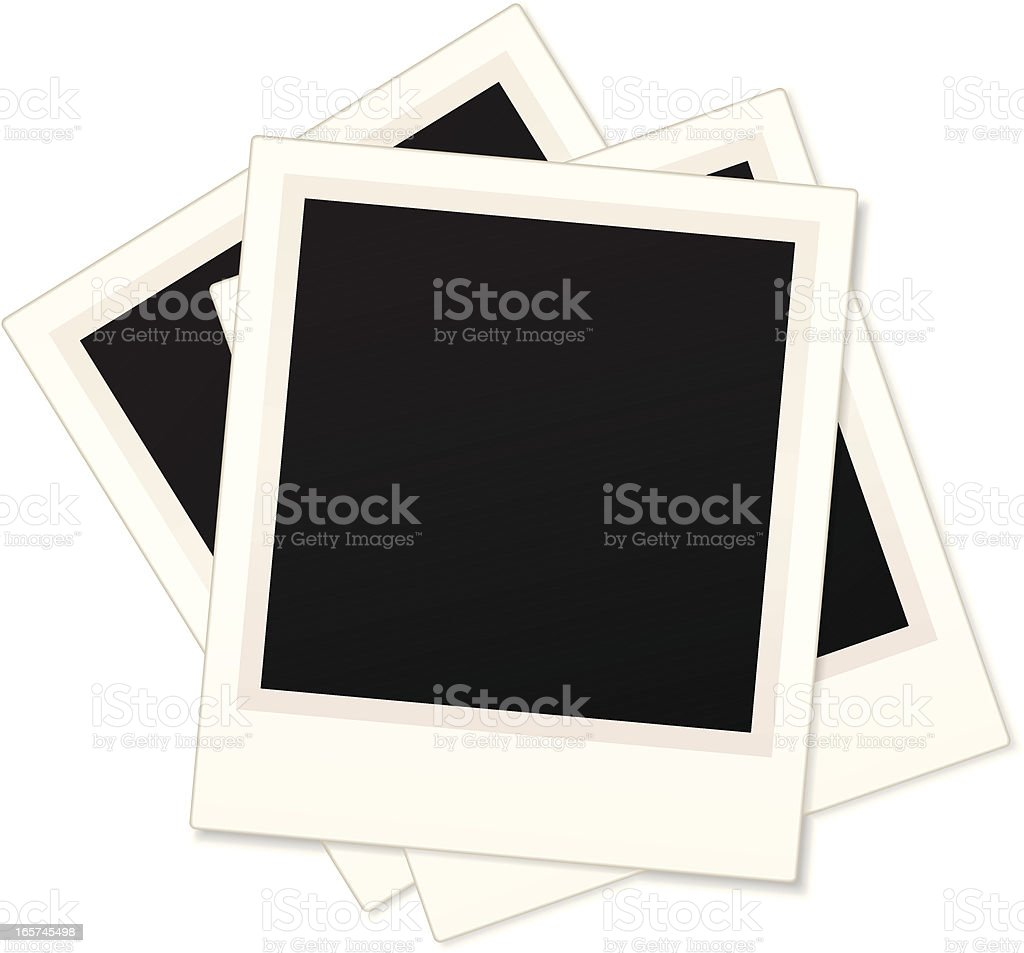 Stacked blank polaroids royalty-free stock vector art
