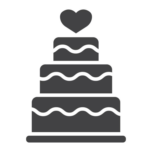 Stacked love cake glyph icon, valentines day and romantic, wedding cake sign vector graphics, a solid pattern on a white background, eps 10. Stacked love cake glyph icon, valentines day and romantic, wedding cake sign vector graphics, a solid pattern on a white background, eps 10. wedding cake stock illustrations