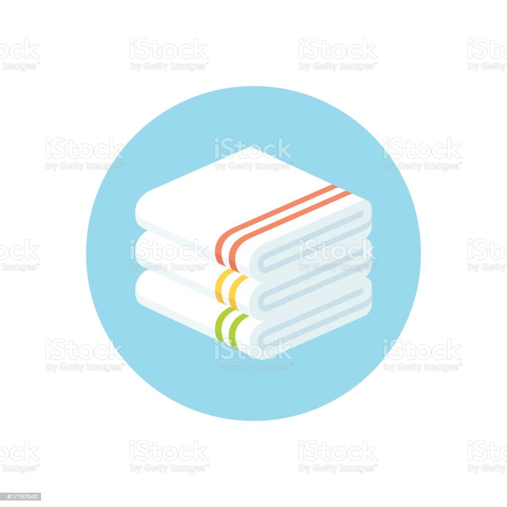 stacked towels icon vector art illustration