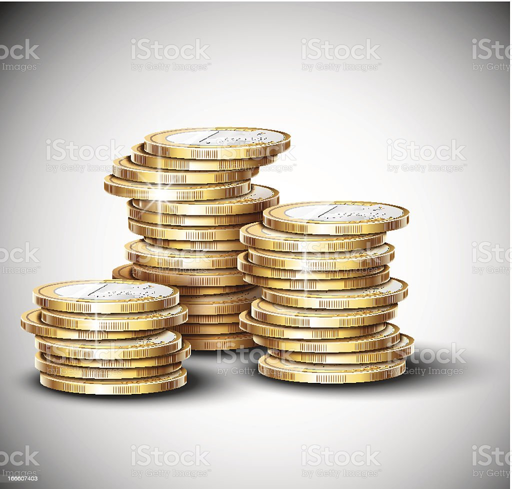 Stacks of coins royalty-free stock vector art