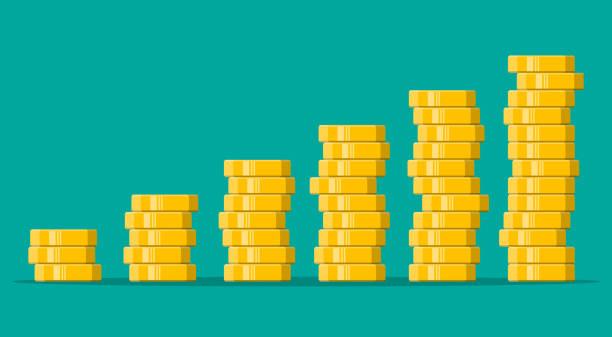 Stapel von Goldmünzen – Vektorgrafik