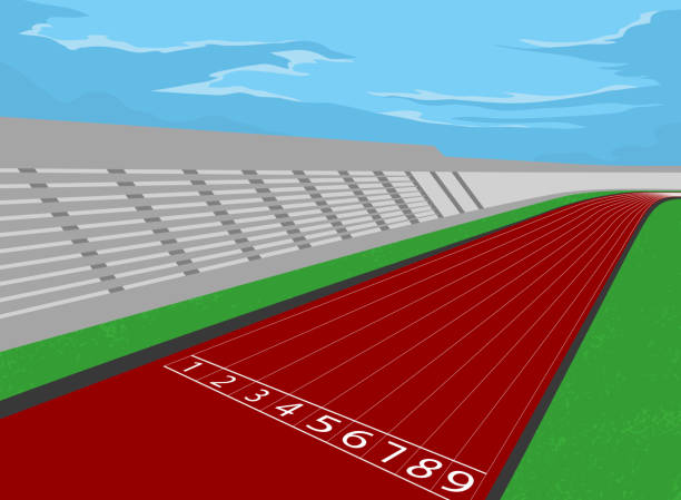 スタジアム、競馬場 - 陸上競技点のイラスト素材/クリップアート素材/マンガ素材/アイコン素材