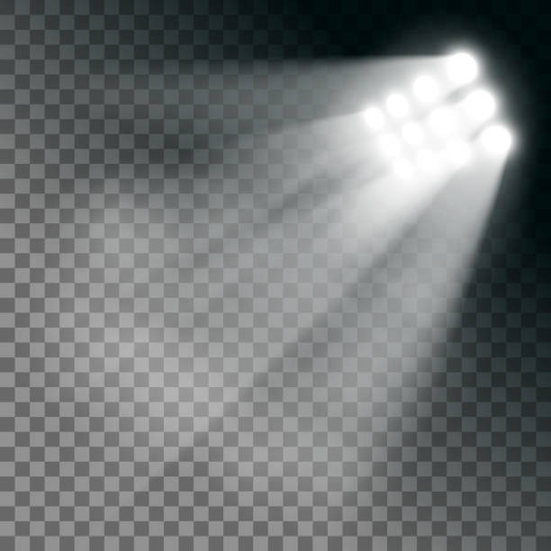 stadium lights effect on a transparent background. - football stock illustrations, clip art, cartoons, & icons