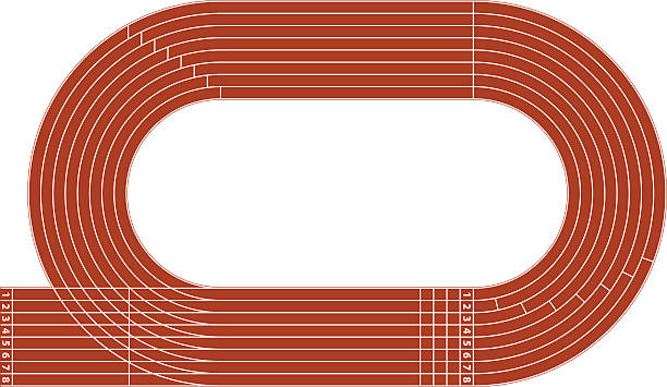 Best Race Track Illustrations, Royalty-Free Vector