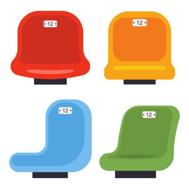 bildbanksillustrationer, clip art samt tecknat material och ikoner med stadium platser vektor tecknad uppsättning isolerad på en vit bakgrund. - sittplats