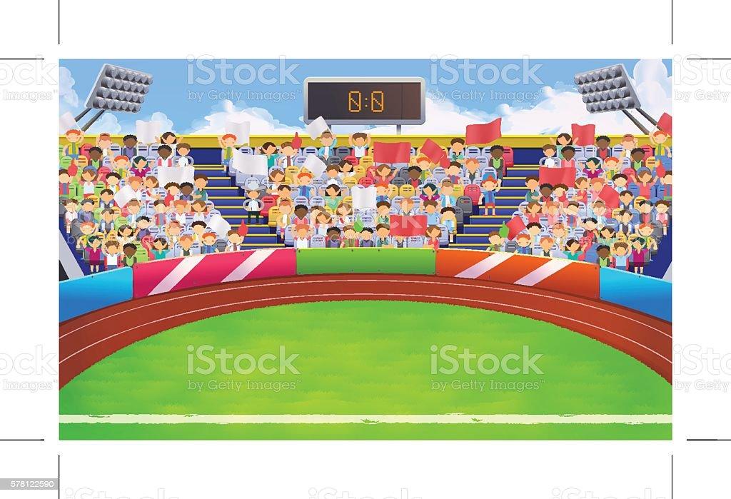 Stadium Sports Arena Vector Background Royalty Free Stock