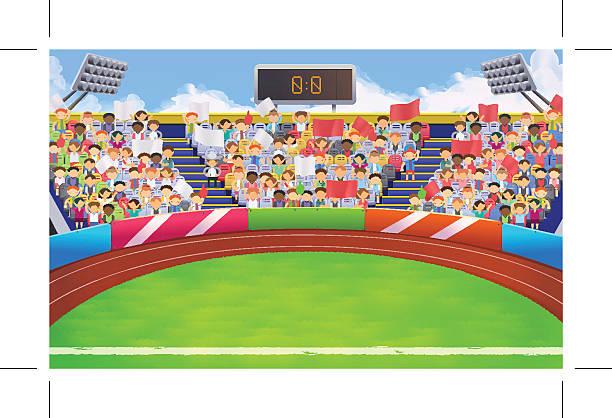 Royalty Free Cartoon Stadium Clip Art, Vector Images