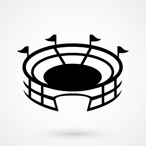 丸い影とスタジアム ベクトル アイコン - スタジアム点のイラスト素材/クリップアート素材/マンガ素材/アイコン素材