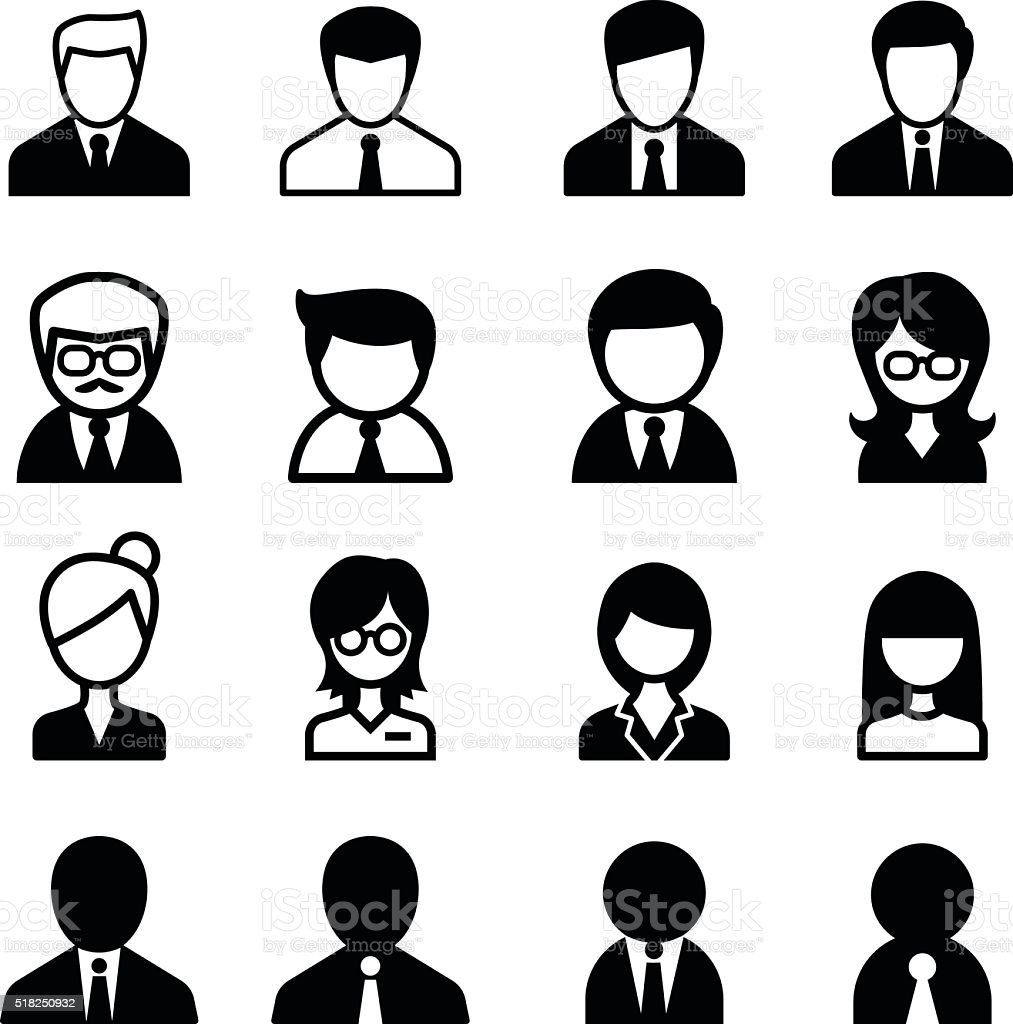 staff icon vector art illustration