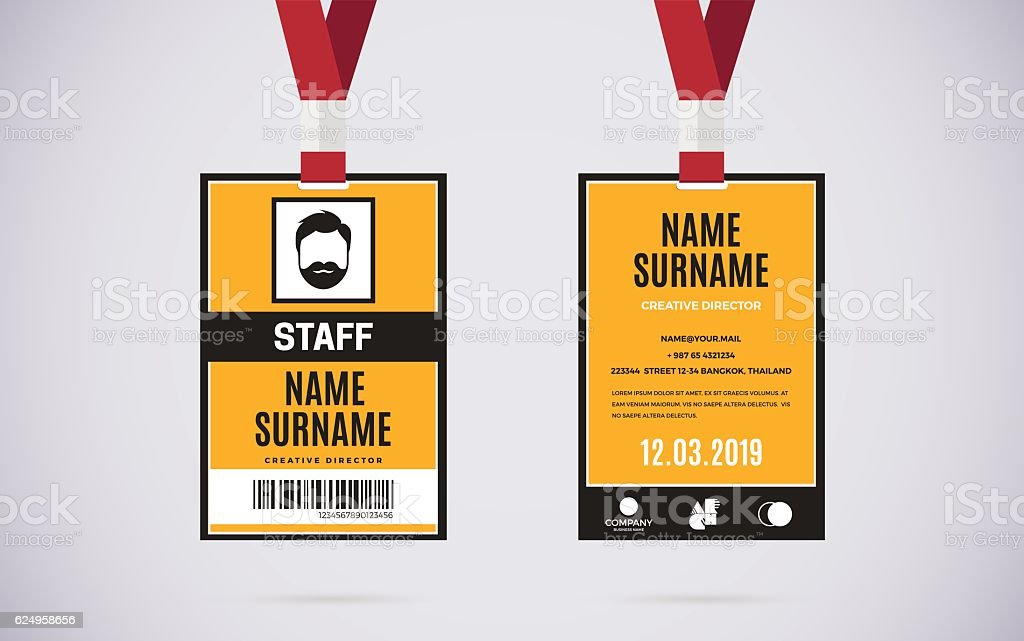 staff id card set vector design illustration アイデンティティーの