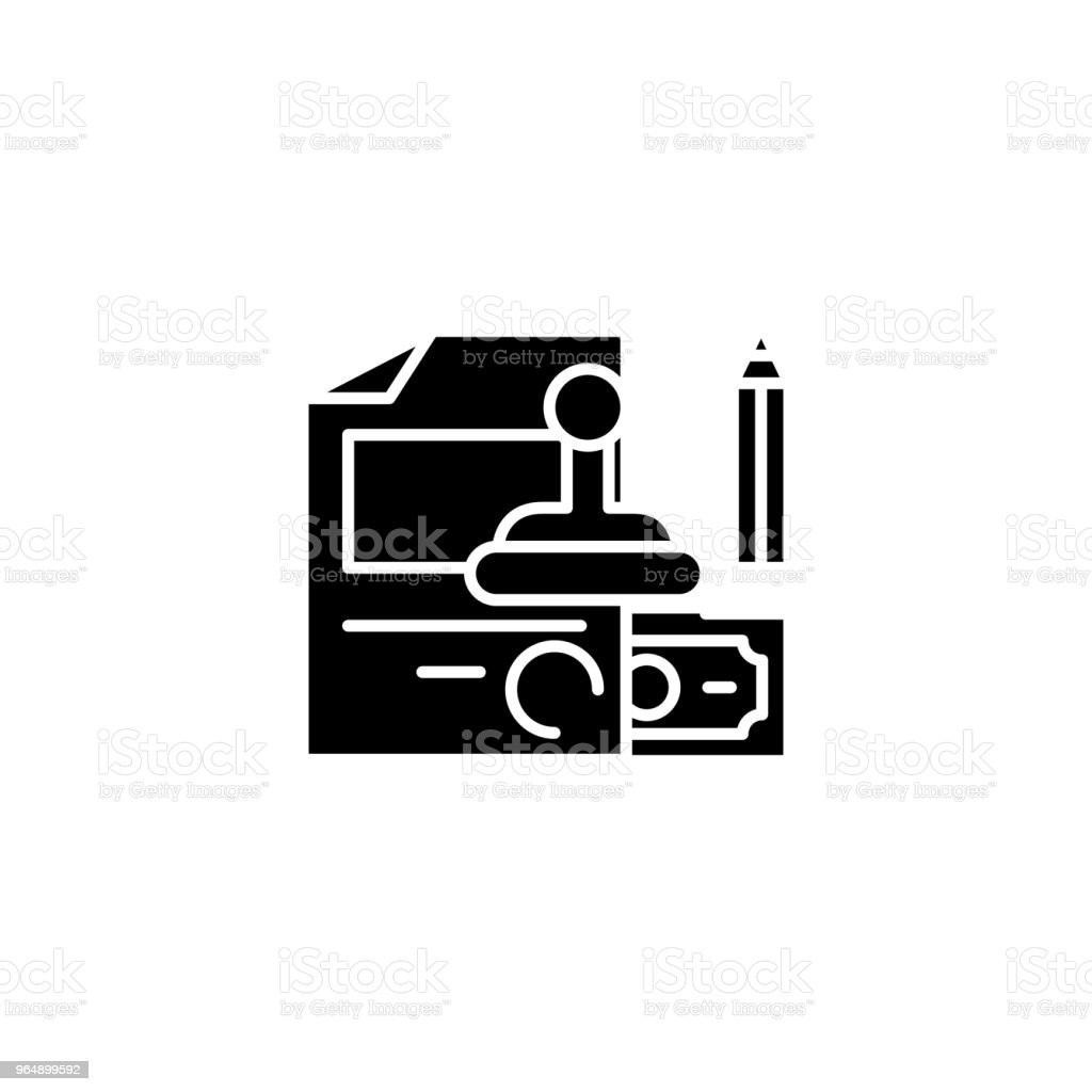 Staff rewards black icon concept. Staff rewards flat  vector symbol, sign, illustration. royalty-free staff rewards black icon concept staff rewards flat vector symbol sign illustration stock vector art & more images of achievement