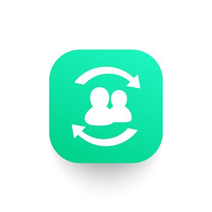 Staff rotation icon, vector symbol