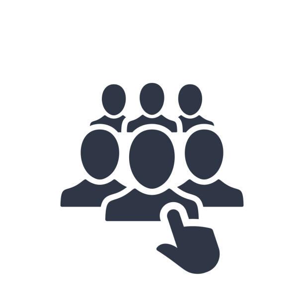 personal-auswahl-symbol - arbeitsvermittlung stock-grafiken, -clipart, -cartoons und -symbole