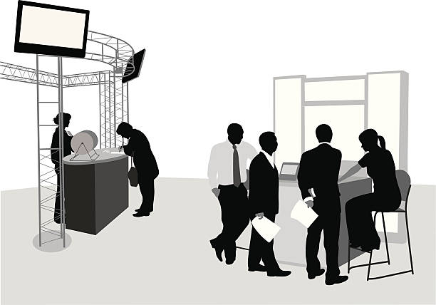 Exhibition Booth Vector Free Download : Royalty free trade show booth clip art vector images