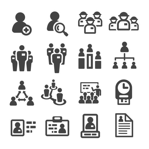 staff,personnel icon staff,personnel icon set,vector illustration coordination stock illustrations