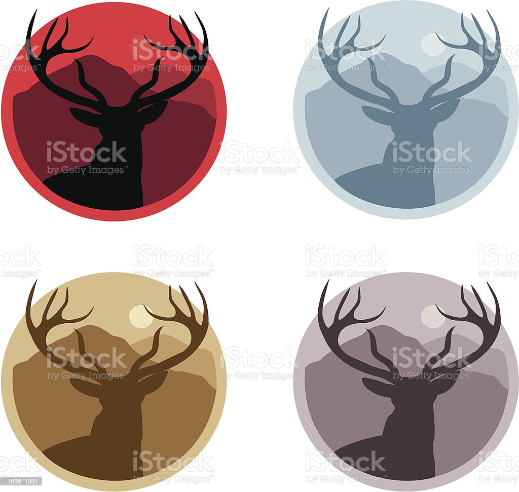 Stag Sillouehtte royalty-free stock vector art
