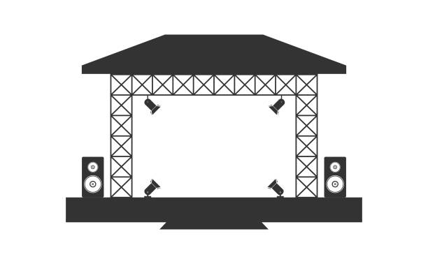Royalty Free Stage Light Clip Art, Vector Images