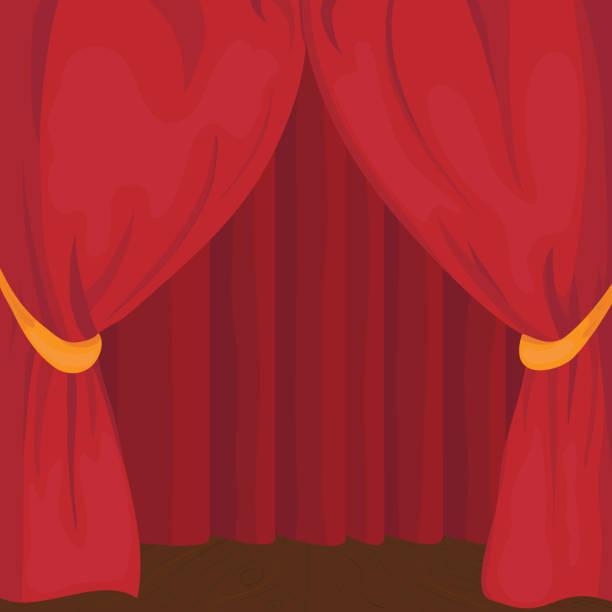 舞台幕 - ステージのイラスト点のイラスト素材/クリップアート素材/マンガ素材/アイコン素材
