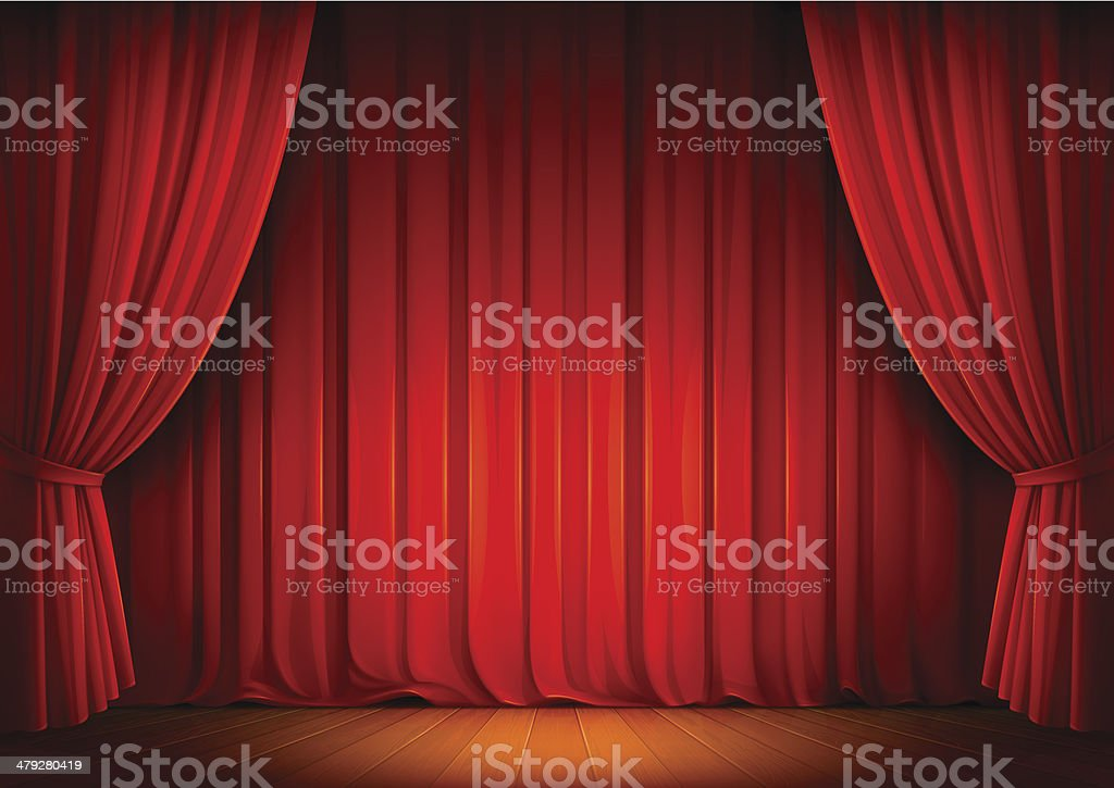 Stage Curtains royalty-free stage curtains stock illustration - download image now