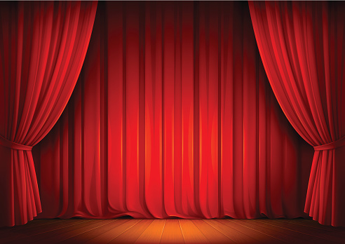 Stage Curtains Stock Illustration - Download Image Now - iStock