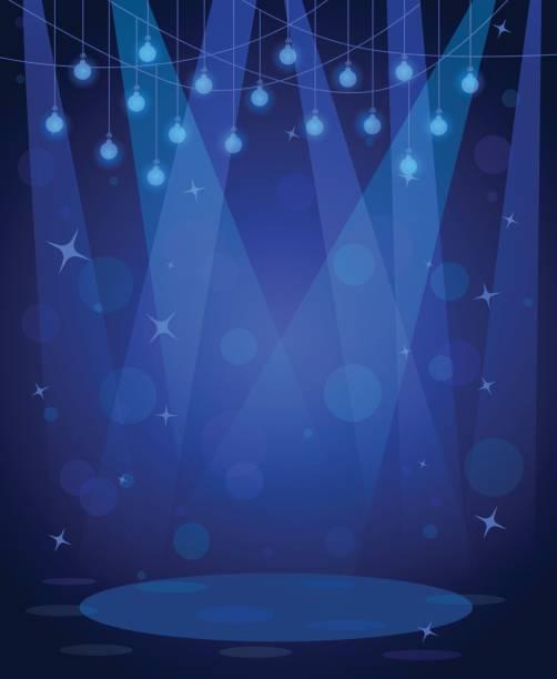 disco-bühne bar nacht rampenlicht hintergrund - ballsäle stock-grafiken, -clipart, -cartoons und -symbole