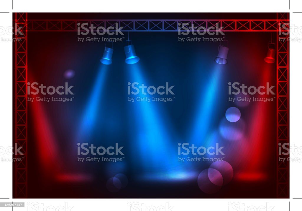 Stage Light royalty-free stage light stock vector art & more images of blue