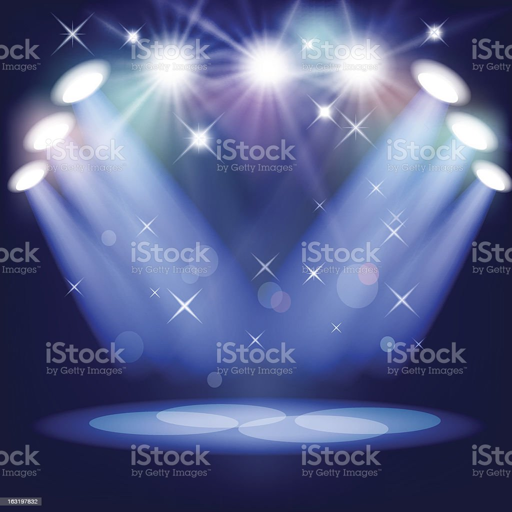 Stage Light royalty-free stage light stock vector art & more images of backdrop