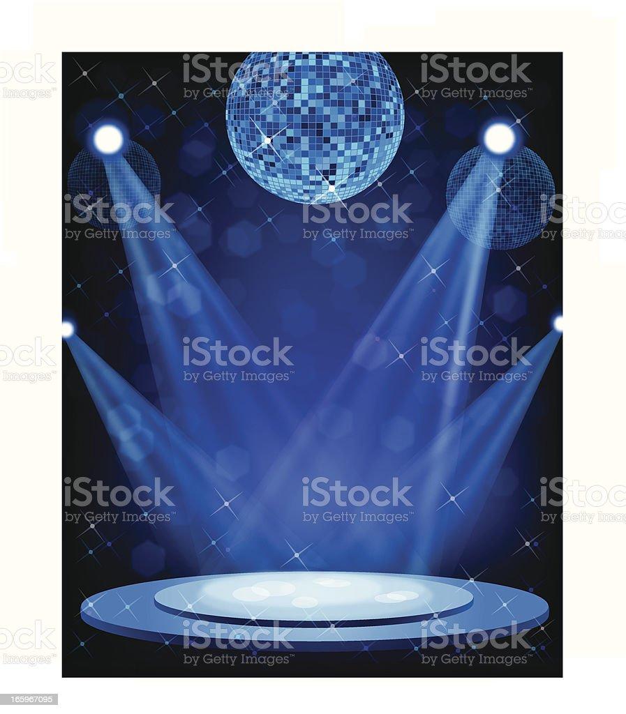Stage lights vector art illustration